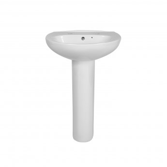 Verona Access Basin & Full Pedestal 550mm Wide 2 Tap Hole