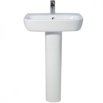 Verona Advance Basin & Full Pedestal 550mm Wide 1 Tap Hole