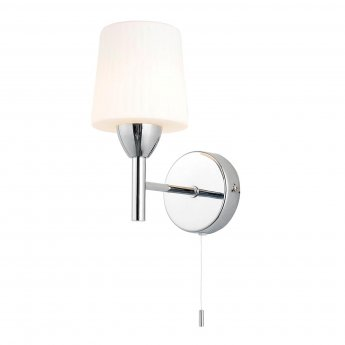 Verona Aqua Wall Light with Pull Chord 100mm Wide - Chrome