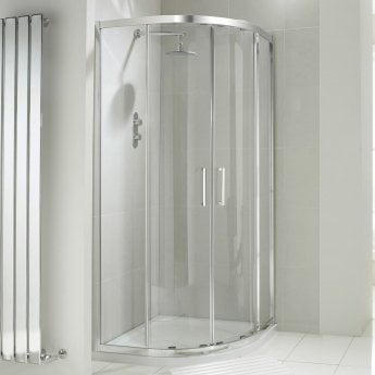Verona Aquaglass+ Drift Offset Quadrant Shower Enclosure 1000mm x 800mm - 8mm Glass