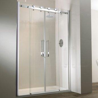 Verona Aquaglass+ Frameless Recess Sliding Shower Door 1700mm Wide - 8mm Glass