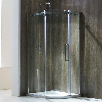 Verona Aquaglass+ Frameless Quadrant 1 Door Shower Enclosure 1000mm x 1000mm - 8mm Glass