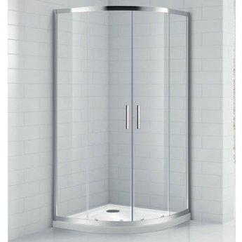 Verona Aquaglass Intro Offset Quadrant Shower Enclosure 1000mm x 800mm with Shower Tray Left Handed
