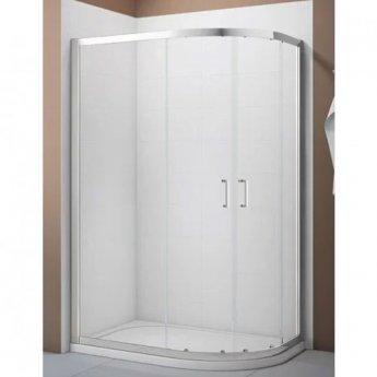 Verona Aquaglass Intro Offset Quadrant Shower Enclosure 1200mm x 800mm Shower Tray Right Handed