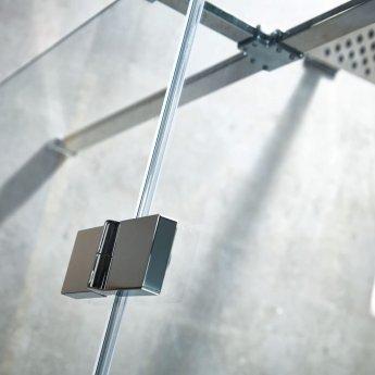 Verona Aquaglass+ Linear Hinged Shower Door 1400mm Wide LH - 8mm Clear Glass
