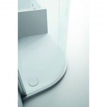 Verona Aquaglass+ Lux Offset Quadrant Shower Enclosure 1200mm x 800mm - Left Handed