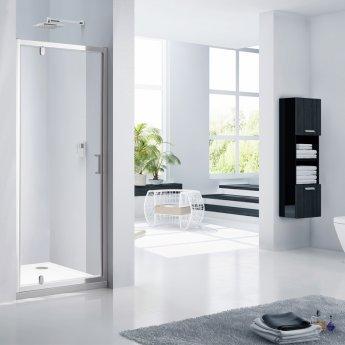 Verona Aquaglass Purity Pivot Shower Door 900mm Wide - 6mm Glass