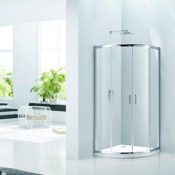 Verona Aquaglass Purity Quadrant Shower Enclosure 800mm x 800mm - 6mm Glass