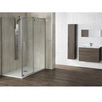 Verona Aquaglass+ Glide Sliding Shower Door 1200mm Wide - 10mm Glass