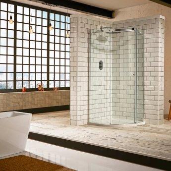 Verona Aquaglass+ Sphere Offset Quadrant 1 Door Shower Enclosure 1000mm x 800mm - Right Handed