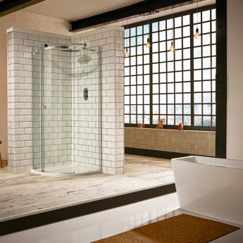 Verona Aquaglass+ Sphere Offset Quadrant 1 Door Shower Enclosure 1200mm x 800mm - Left Handed
