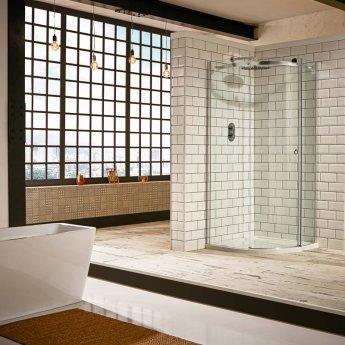 Verona Aquaglass+ Sphere Offset Quadrant 1 Door Shower Enclosure 1200mm x 800mm - Right Handed
