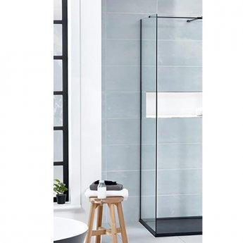 Verona Aquaglass+ L Shape Walk-In Side Panel 800mm Wide - 8mm Glass