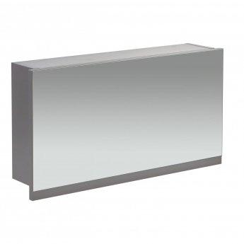 Verona Aquatrend Gas-Lift Mirrored Bathroom Cabinet 400mm H x 750mm W - Dust Grey