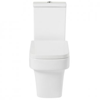 Verona Avenue Flush-to-Wall Toilet WC Push Button Cistern - Soft Close Seat