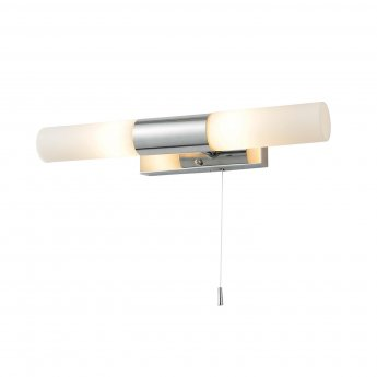 Verona Beam Wall Light with Pull Cord 360mm Wide - Chrome