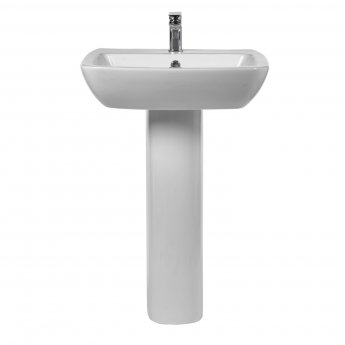 Verona Bella Basin with Full Pedestal 570mm Wide - 1 Tap Hole