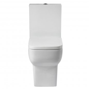 Verona Bella Close Coupled Toilet with Push Button Cistern - Soft Close Seat