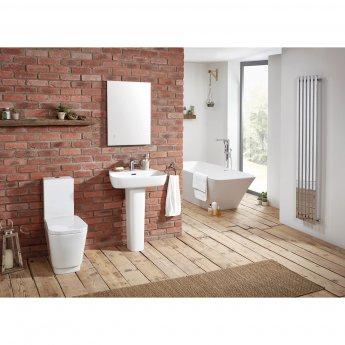Verona Bellisi Aquaceramica Close Coupled Toilet WC Push Button Cistern - Soft Close Seat