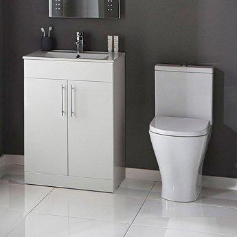 Verona Boulevard Close Coupled Toilet WC Push Button Cistern - Soft Close Seat