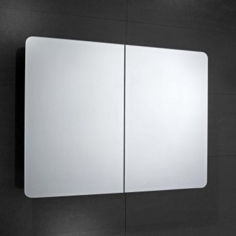 Verona Bramham 2-Door Mirrored Bathroom Cabinet 800mm Wide - Stainless Steel