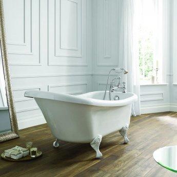 Verona Camden Freestanding Roll Top Slipper Bath 1500mm x 750mm - Excluding Feet