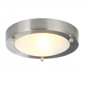 Verona Cane Round Flush Ceiling Light 180mm Wide - Chrome