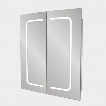 Verona Designer Line 2-Door Mirrored Bathroom Cabinet 600mm Wide