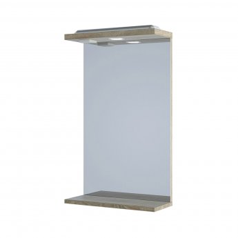 Verona Bathroom Mirror 750mm H x 450mm W - Bordeaux Oak
