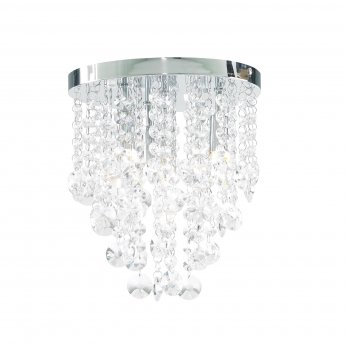 Verona Crystal Dropped Bathroom Chandelier 260mm Wide - Chrome