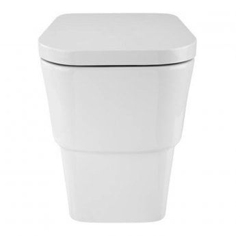 Verona Cubix Back to Wall Toilet WC Pan - Soft Close Seat