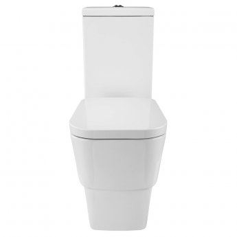 Verona Cubix Close Coupled Flush to Wall Toilet with Cistern - Soft Close Seat
