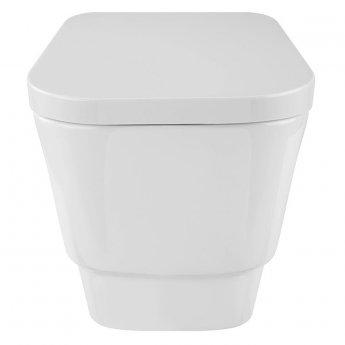 Verona Cubix Wall Hung Toilet Pan - Soft Close Seat