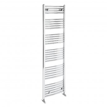 Verona Curved Designer Heated Towel Rail 1700mm H x 500mm W Chrome