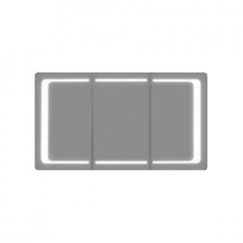 Verona Designer Line 3-Door Mirrored Bathroom Cabinet 1200mm Wide