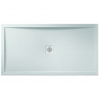 Verona Designer Stone Rectangular Shower Tray 1000mm x 900mm - White Slate Effect