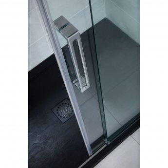 Verona Designer Stone Rectangular Shower Tray 1000mm x 900mm - Black Slate Effect