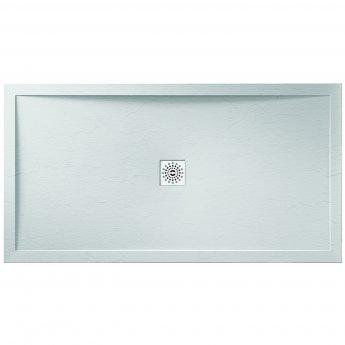 Verona Designer Stone Rectangular Shower Tray 1200mm x 700mm - White Slate Effect