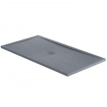 Verona Designer Rectangular Grey Slate Shower Tray 1200mm x 700mm - Stone Resin
