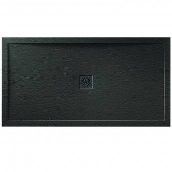 Verona Designer Stone Rectangular Shower Tray 1200mm x 700mm - Black Slate Effect