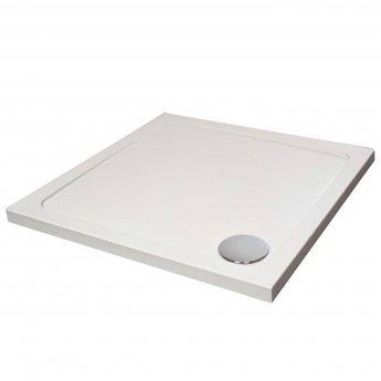 Verona Designer Square Shower Tray 700mm x 700mm - Flat Top