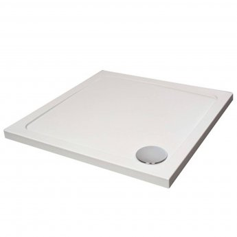 Verona Designer Square Shower Tray 760mm x 760mm - Flat Top