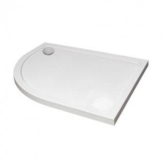 April Offset Quadrant Shower Tray 1000mm x 800mm - Left Handed