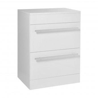 Verona 2 Drawer Floor Standing Vanity Unit 750mm Wide - White