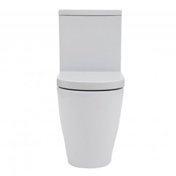 Verona Emme Flush to Wall Close Coupled Toilet with Push Button Cistern - Soft Close Seat