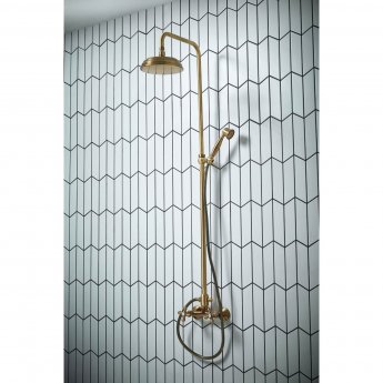 Verona Etros Thermostatic Bar Mixer Shower with Shower Kit and Fixed Head