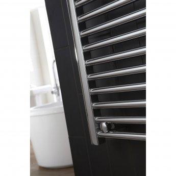 Verona Flat Designer Heated Towel Rail 1100mm H x 450mm W Chrome