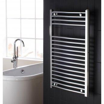 Verona Flat Designer Heated Towel Rail 825mm H x 500mm W Chrome