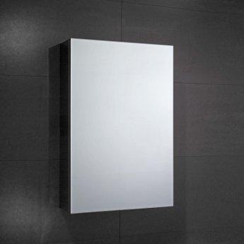 Verona Fulford 1-Door Mirrored Bathroom Cabinet 400mm Wide - Stainless Steel