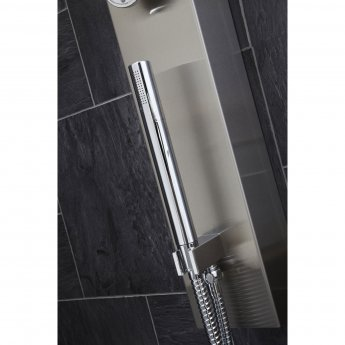 Verona Garda Thermostatic Shower Panel 3 Round Body Jets with Shower Hand